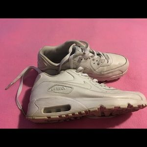 Great White Nike Air Max Shoes